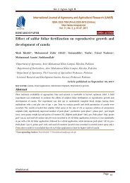 Effect of sulfur foliar fertilization on reproductive growth and development of canola