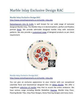 Marble Inlay Exclusive Design RAC