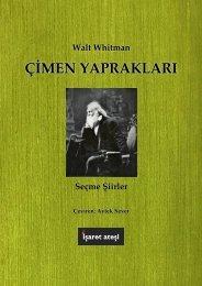 Walt Whitman - Çimen Yaprakları