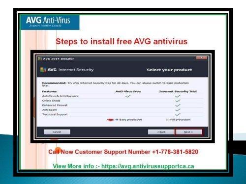steps to install free avg antivirus