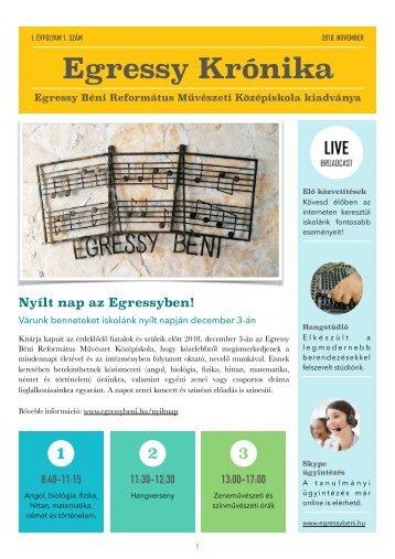 Egressy Krónika - 2018. november