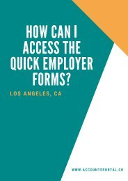 How can I Access the Quick Employer Forms?
