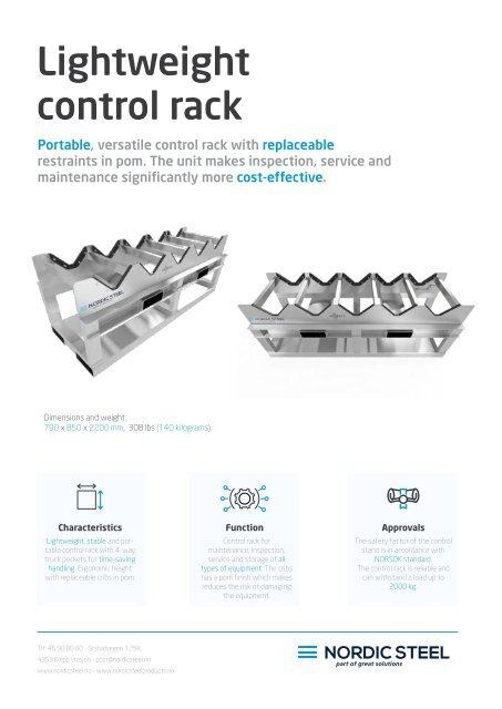 Lightweight control rack(EN)