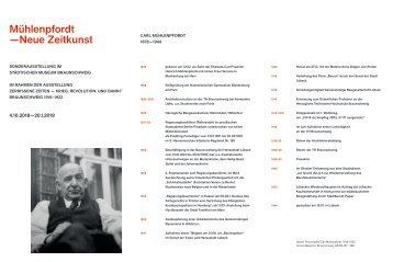 Faltblatt Mühlenpfordt Neue Zeitkunst