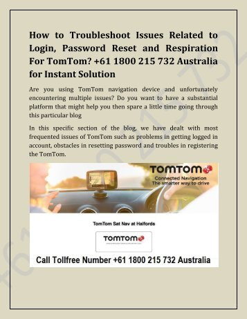TomTom login and registration issues-converted