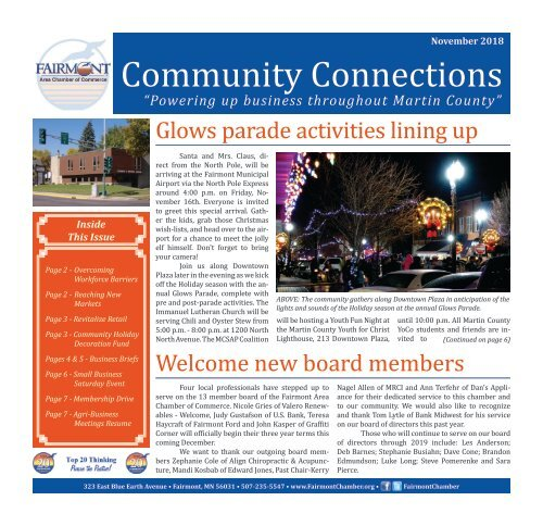 Chamber Newsletter - November 2018