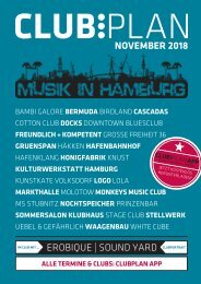Clubplan Hamburg - November 2018