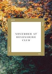 November at Devonshire Club