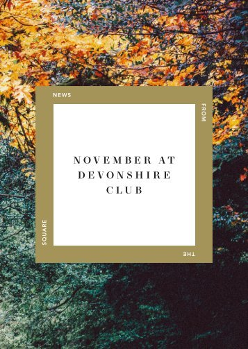 November at Devonshire Club