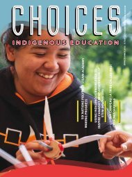 Choices Indigenous Education - Spring / Summer 2018
