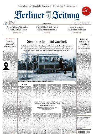 Berliner Zeitung 01.11.2018