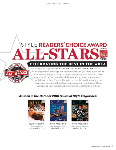 Readers' Choice Award All-Stars 2018