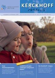 Ausgabe 8, Dezember 2007 - Kerckhoff-Klinik