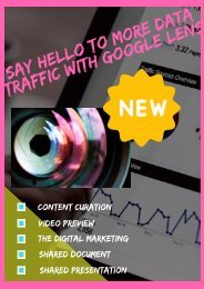 SAY HELLO TO MORE DATA TRAFFIC WITH GOOGLE LENS