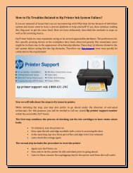 How to Fix Troubles Related to Hp Printer Ink System Failure