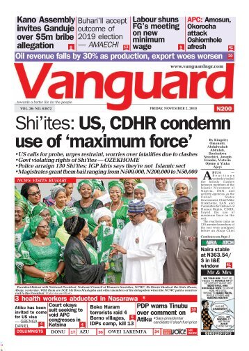 02112018 - Shi'ites: US, CDHR condemn use of 'maximum force'