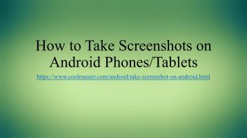 6 Easy Ways to Take Screenshot on Android Devices