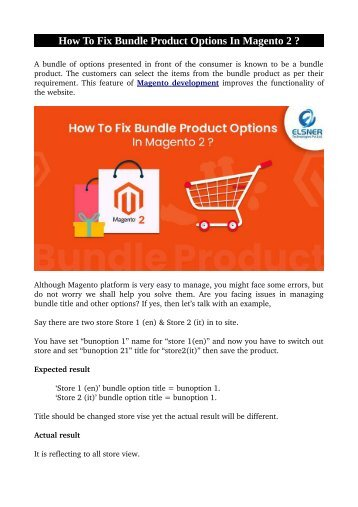 How To Fix Bundle Product Options In Magento 2