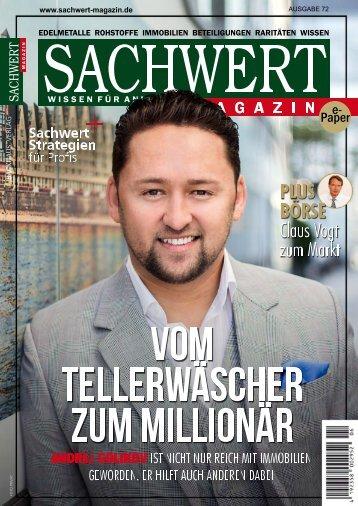 Sachwert Magazin ePaper, Ausgabe 72/Oktober 2018