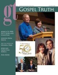 2018 fall Gospel Truth magazine SA