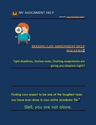 Law Assignment Help Malaysia