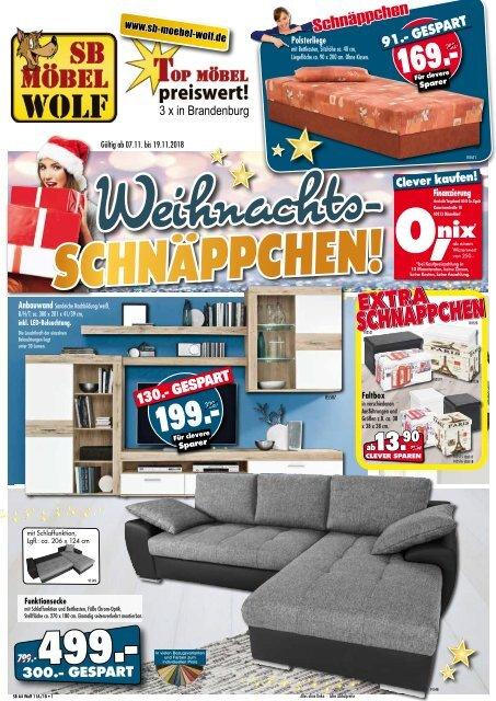 Tolle Weihnachts-Schnäppchen bei SB Möbel Wolf: Top-Möbel preiswert - 3x in Brandenburg