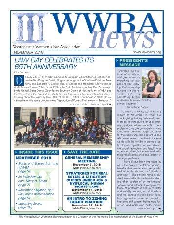 WWBA November 2018 Newsletter