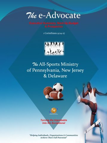 The All-Sports Ministry of PA NJ & DE - Executive Summary Start-Up Budget & Prospectus