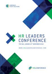 HR Leaders Conference November 2018 Itinerary