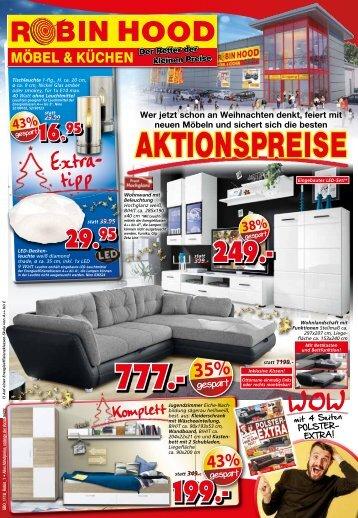 Weihnachts-Aktionspreise bei Robin Hood, Möbel & Küchen, 78166 Donaueschingen
