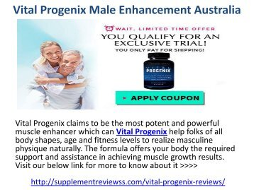 Vital Progenix Male Enhancement Australia