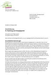 VI. Nachtrag Energiegesetz