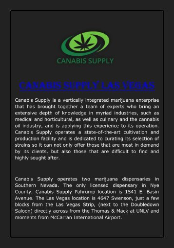 Canabis Supply Las Vegas