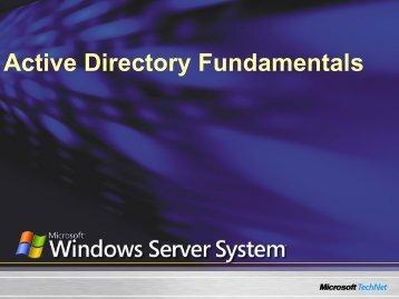 Active Directory Fundamentals