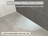 How to Detect Water Damage Leaks in Walls