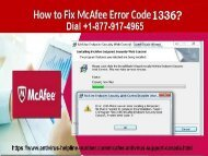 Fix Mcafee Antivirus Error 1336 in windows- +1-877-917-4965