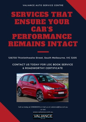 Services that Ensure Your Car's Performance Remains Intact - Valiance