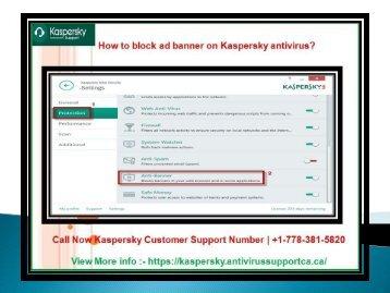How to block ad banner on Kaspersky Antivirus?
