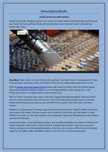 Florida Smooth Jazz Radio Stations