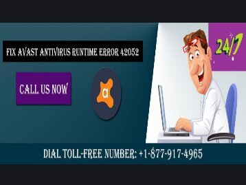 Dial +1-877-917-4965 Fix Avast Runtime Error 42052