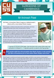 Surgeons of Cambridge #2 - Mr Animesh Patel