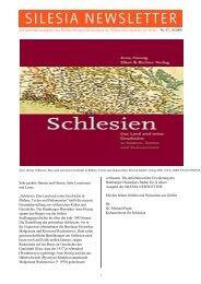 SILESIA NEWSLETTER - Schlesisches Museum zu Görlitz