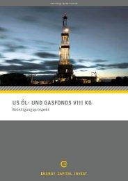 US ÖL- UND GASFONDS VIII KG - Kenntner GmbH