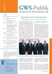 GWS-Publik - Gesellschaft zur Wirtschafts- und Strukturförderung im ...