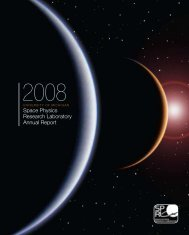 space Physics research Laboratory annual report