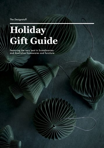 The Designstuff Holiday Gift Guide 2018