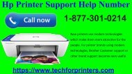 HP Printer Support Help Number Call At 1-877-301-0214