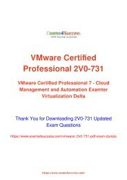 VMware 2V0-731 Exam Dumps [2018 NOV] - 100% Valid Questions