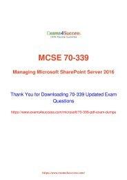 Microsoft 70-339 Exam Dumps [2018 NOV] - 100% Valid Questions