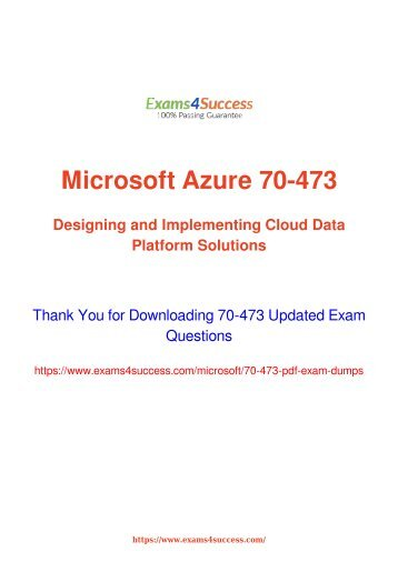 Microsoft 70-473 Exam Dumps [2018 NOV] - 100% Valid Questions